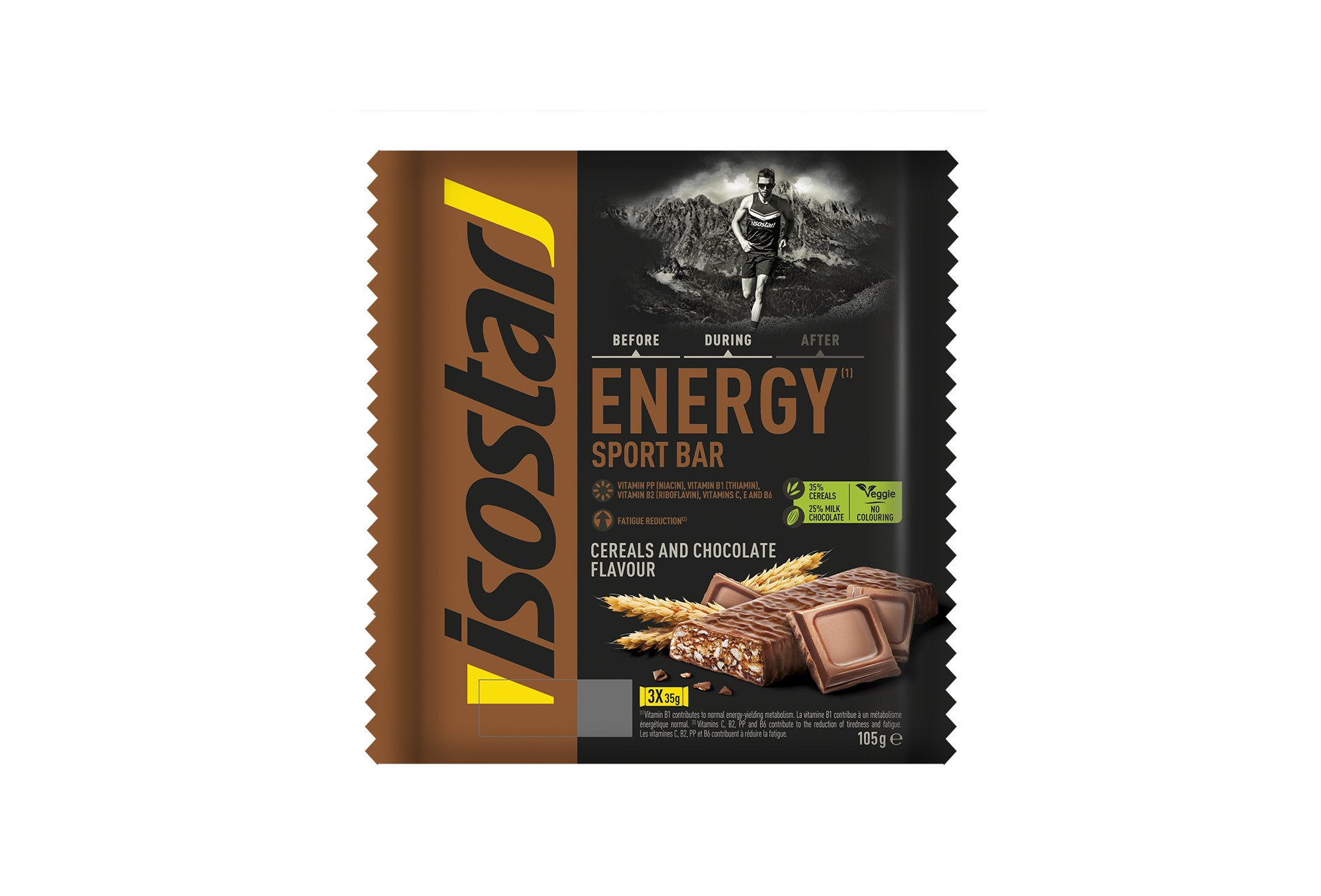 Isostar Barres Energy - Chocolat Céréales Diététique Barres