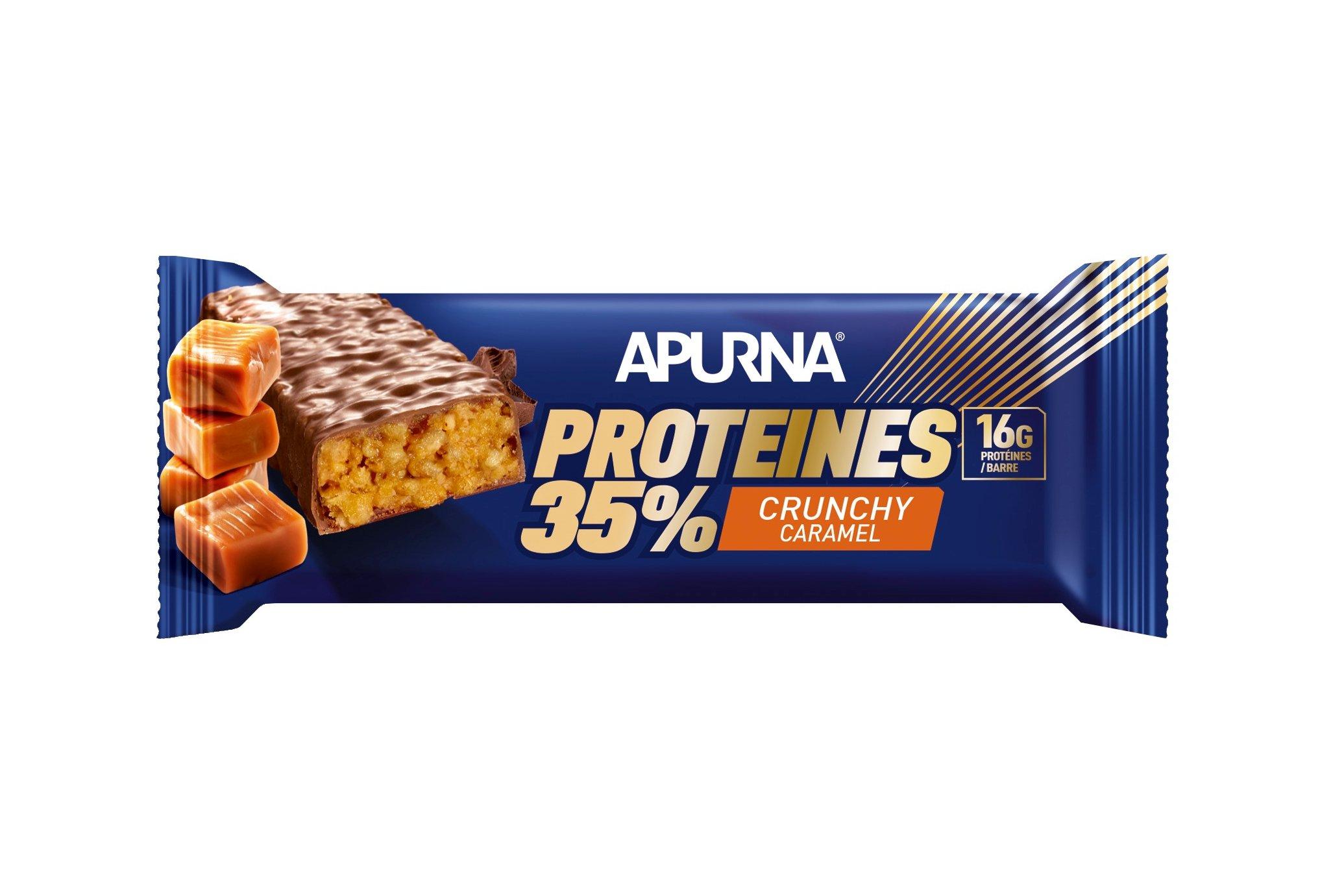 Apurna Barre Protéinée - Crunchy Caramel Diététique Protéines / récupération