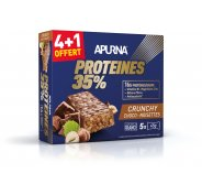 Apurna Barre protéinée Crunchy Choco Noisettes 4+1 offert
