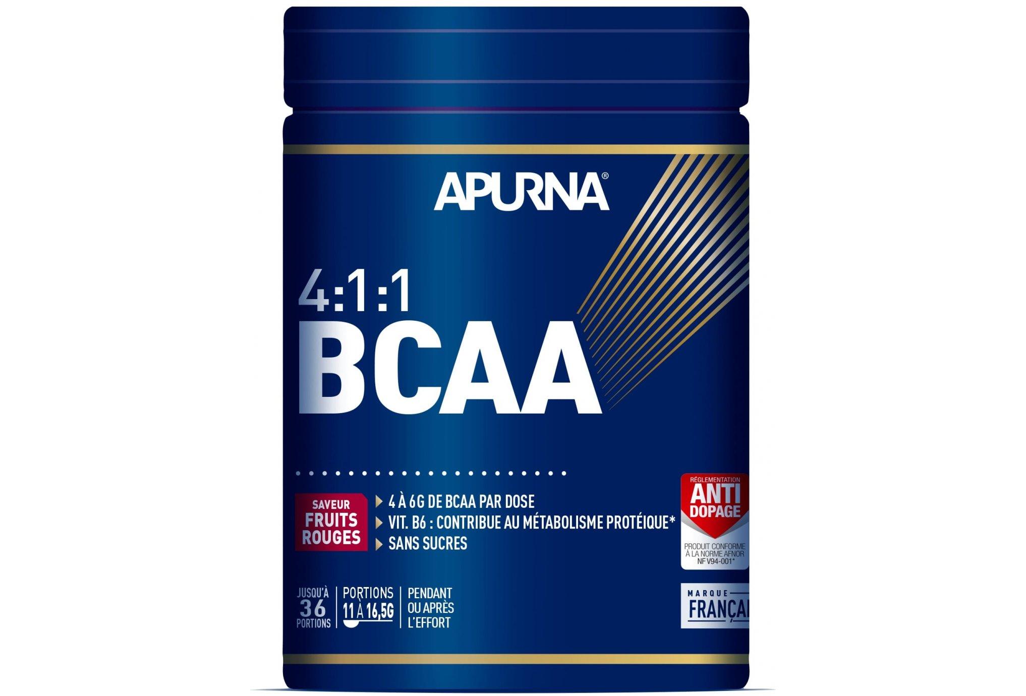 Apurna BCAA 4.1.1 - Fruits rouges - 400 g Diététique Protéines / récupération