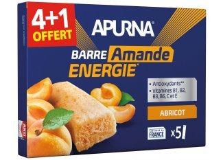 Apurna Pack de barras energéticas albaricoque almendra 4+1