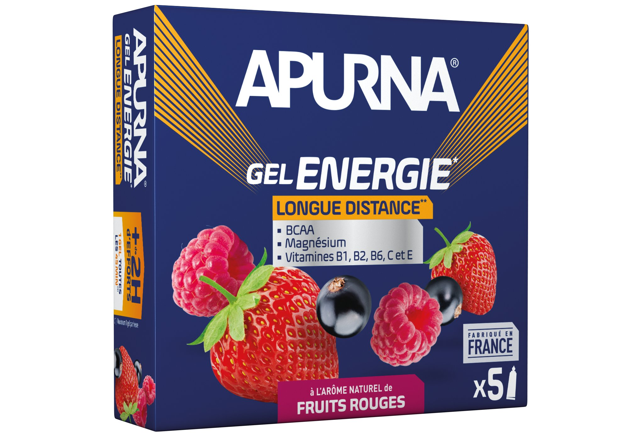 Apurna Etui gels +2h d'effort Fruits rouges Diététique Gels