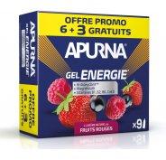 Apurna Etui Gels Energie 6+3 - Fruits Rouges