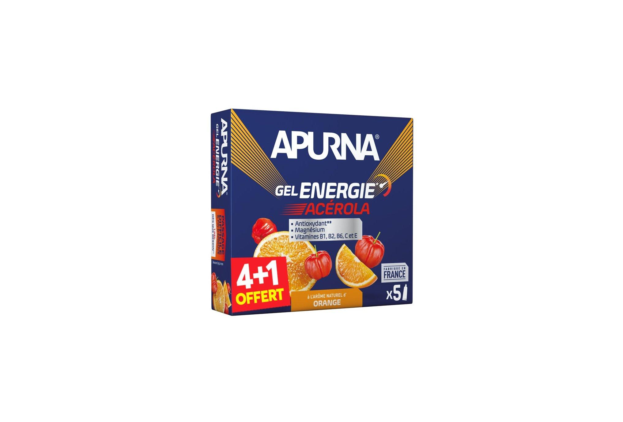 Apurna Pack de Geles energéticos Energie Acerola 4+1 Diététique Gels