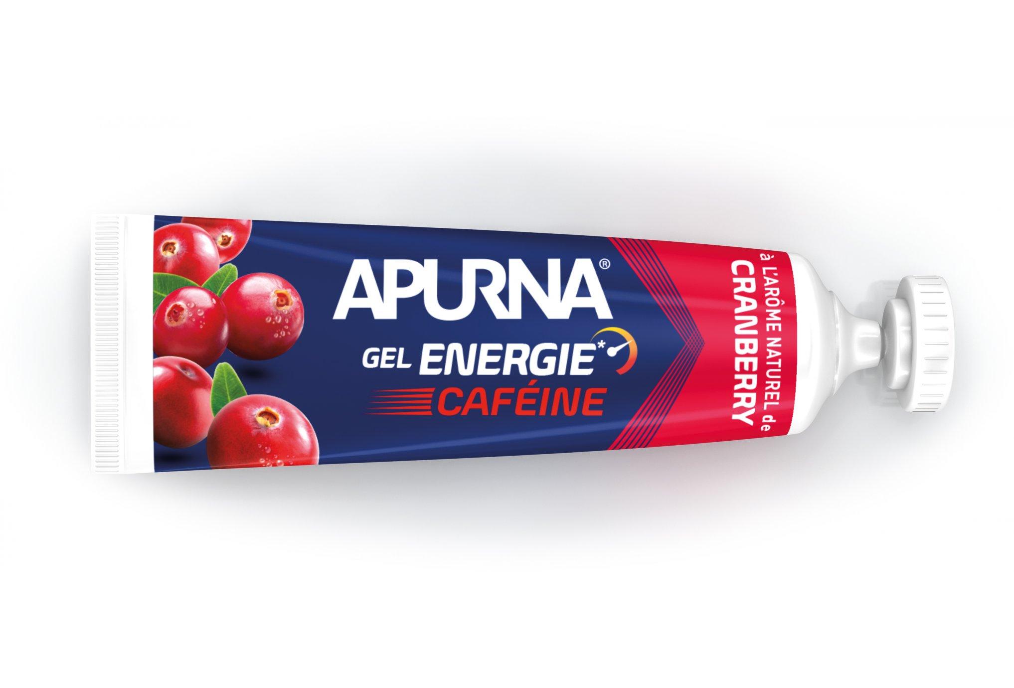 Apurna Gel energie caféine - cranberry diététique gels