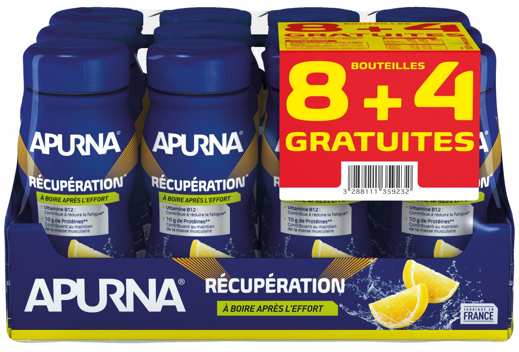 Apurna Pack 8+4 Bebida recuperación-Limón Diététique Protéines / récupération