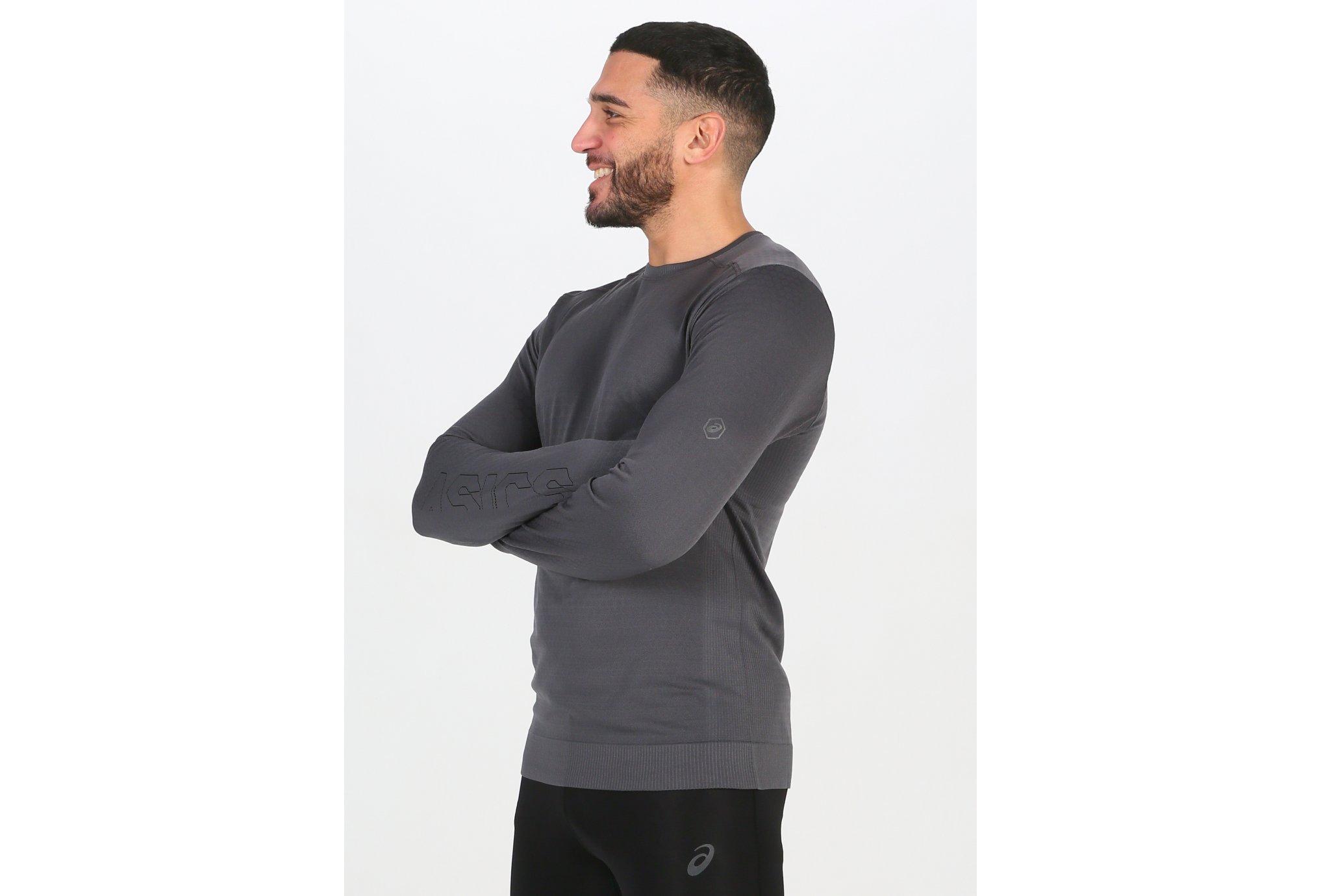 Asics FuzeX Seamless LS M vêtement running homme