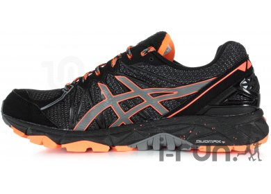 asics trabuco noir orange