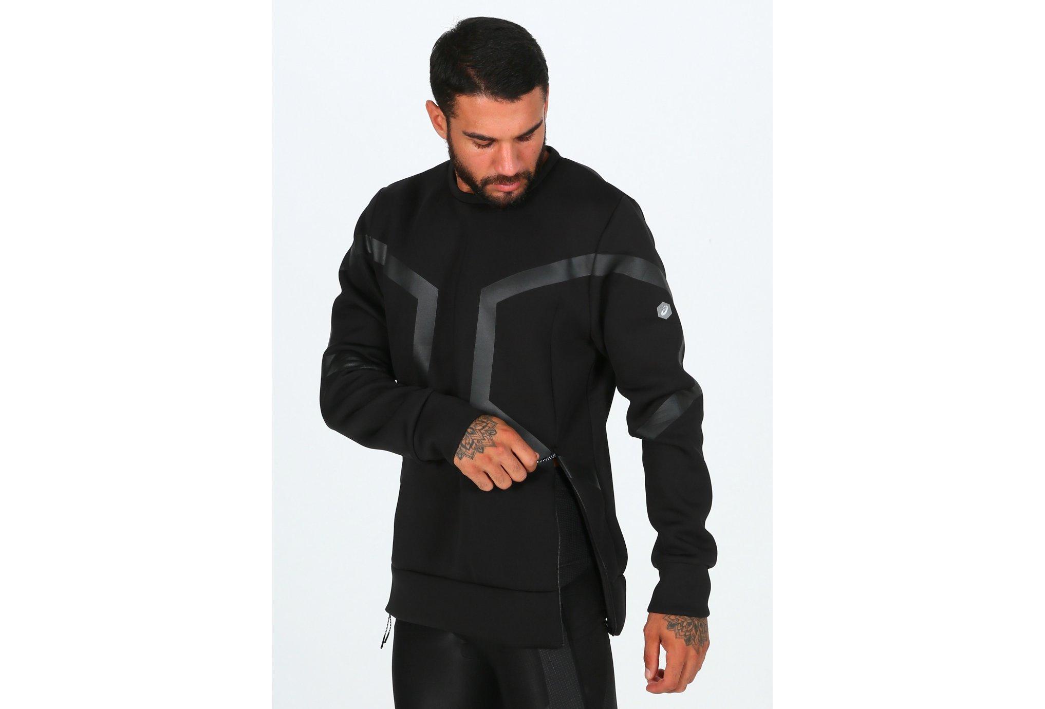 Asics Hexagon Crew Top M Diététique Vêtements homme