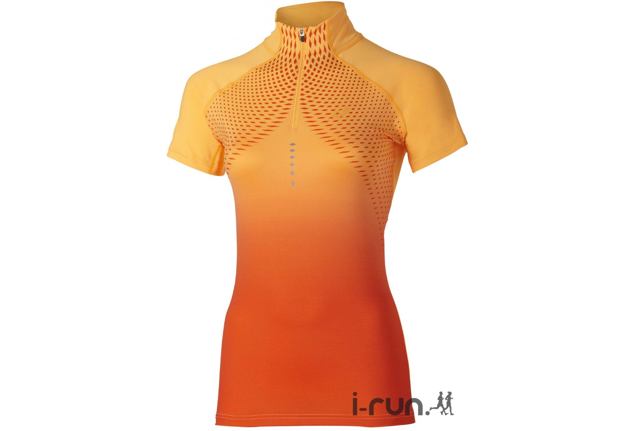 Asics Maillot 1/2 Zip Top W vêtement running femme