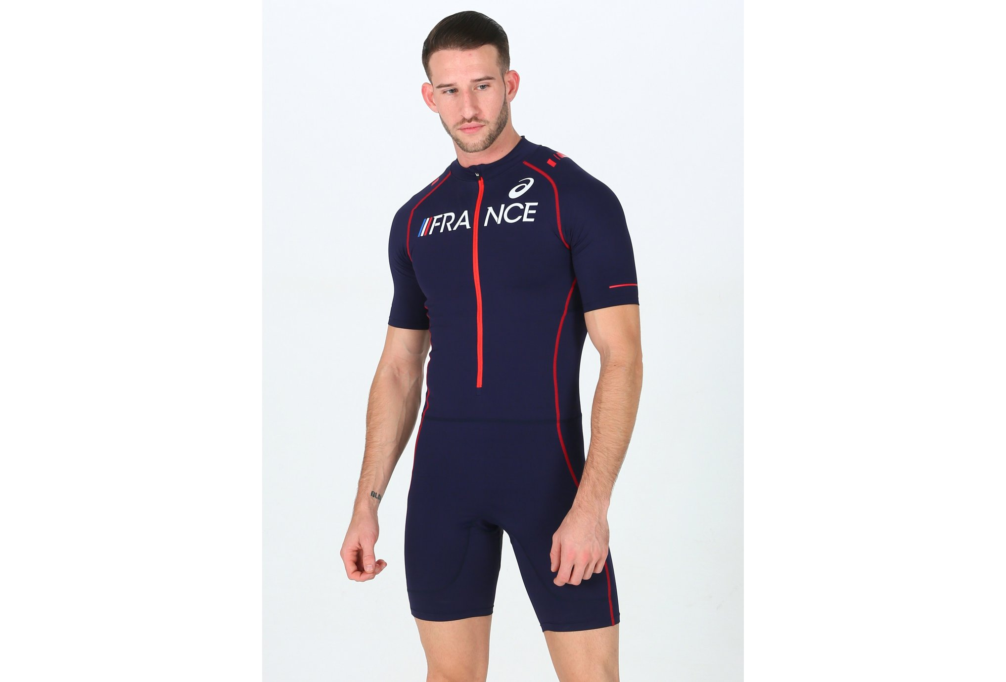 Asics Racing Suit France M vêtement running homme