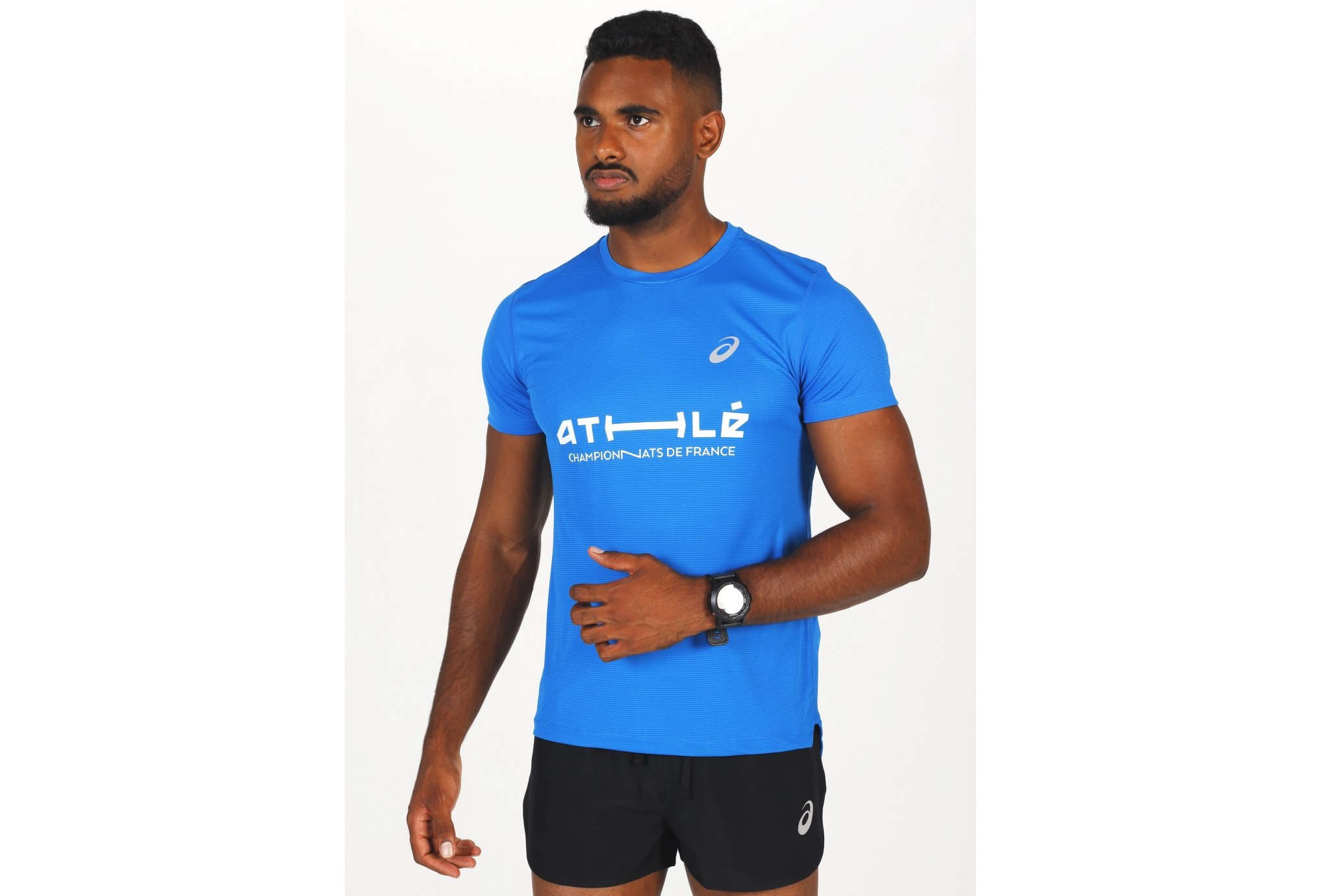 Asics Silver SS Top France M vêtement running homme