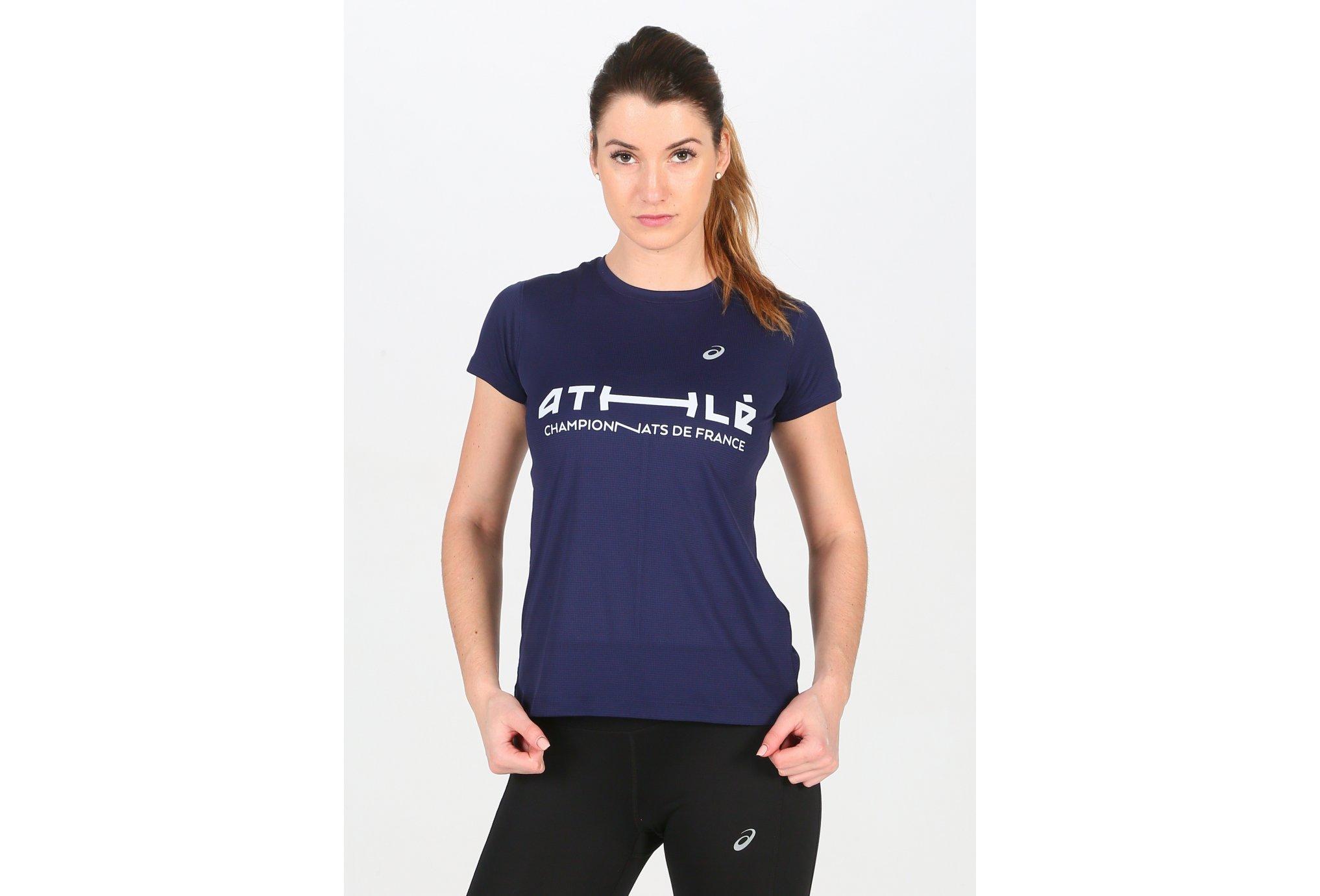 Asics Silver SS Top France W vêtement running femme