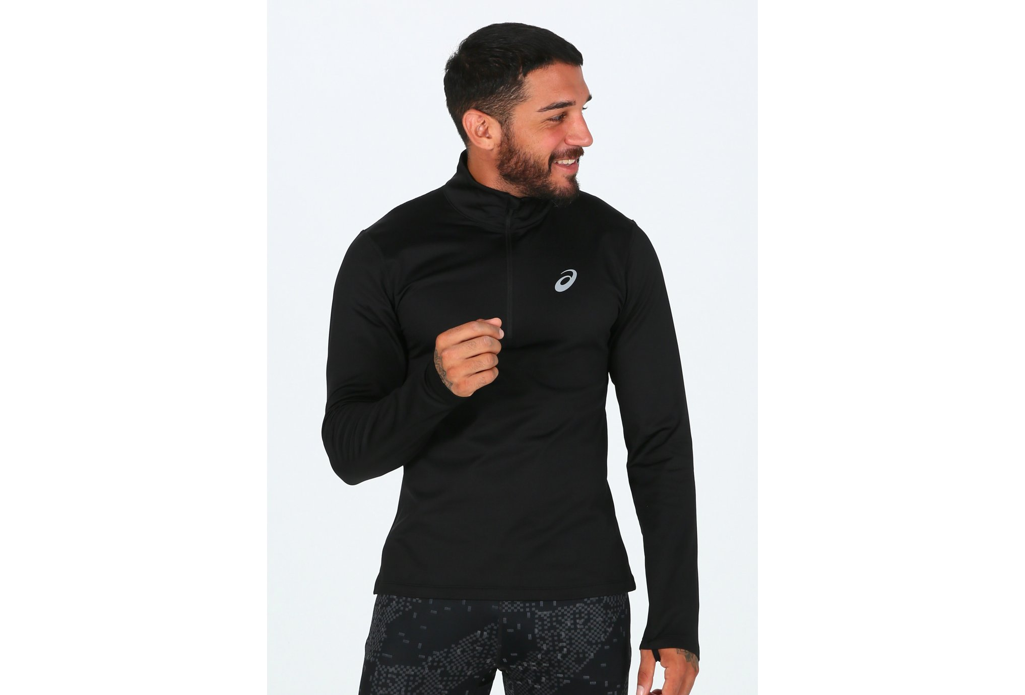 Asics Silver Winter LS 1/2 Zip M vêtement running homme
