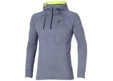 Asics Sweat à capuche 1 2 Zip M pas cher - Vêtements homme running ... 0955ce85c07