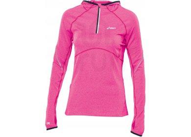 95fe9b51923a0 Asics Sweat à Capuche 1 2 Zip W pas cher - Vêtements femme running ...