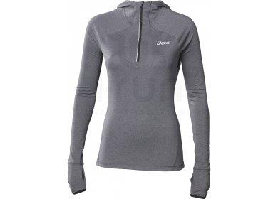 b5b2159c42102 Asics Sweat à capuche 1 2 Zip W pas cher - Vêtements femme running ...
