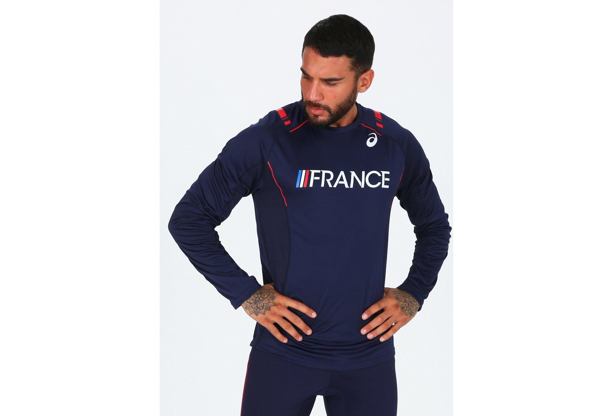 Asics T&F LS Top Équipe de France M vêtement running homme