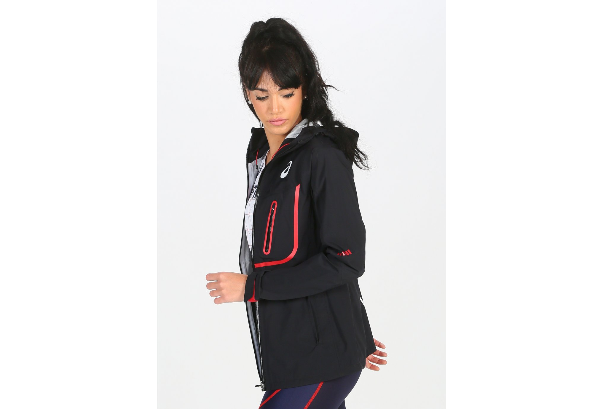 Asics T&F Rain Vest Équipe de France W vêtement running femme