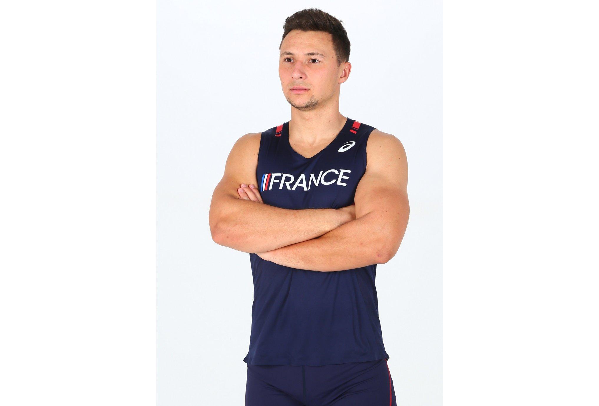 Asics T&F Singlet Équipe de France M vêtement running homme