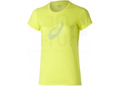 5608d86e819 Asics Tee-Shirt Graphic Top W femme Jaune or pas cher