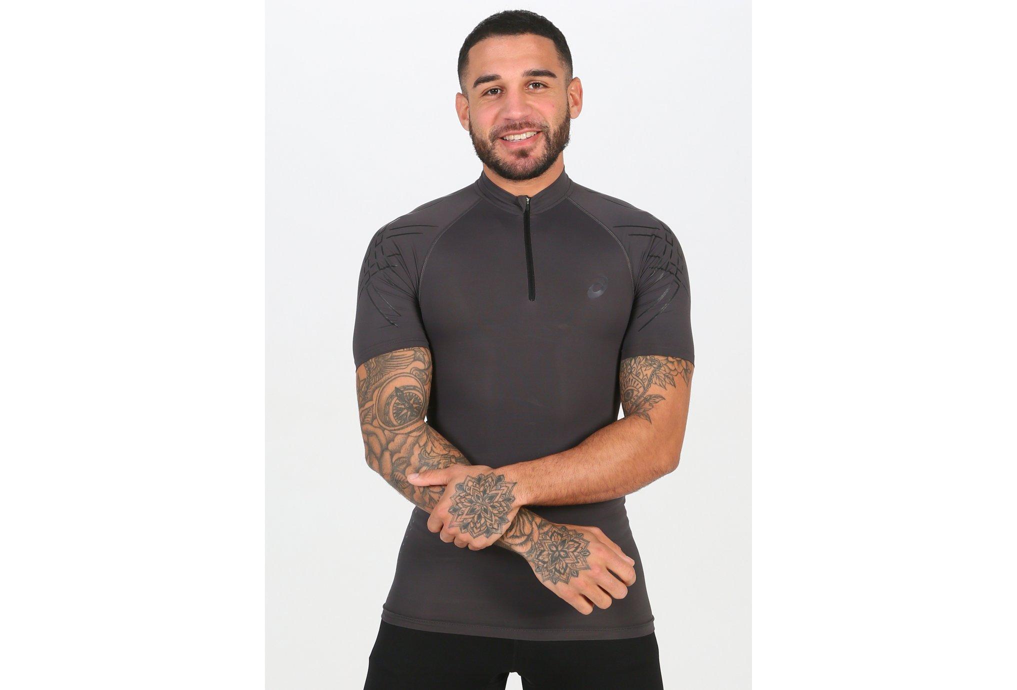 Asics Tee-shirt Inner Muscle 1/2 Zip M Diététique Vêtements homme