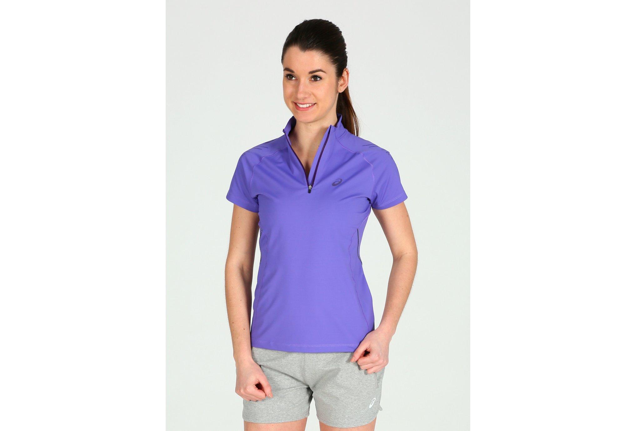 Asics Tee-shirt Speed 1/2 Zip W Diététique Vêtements femme