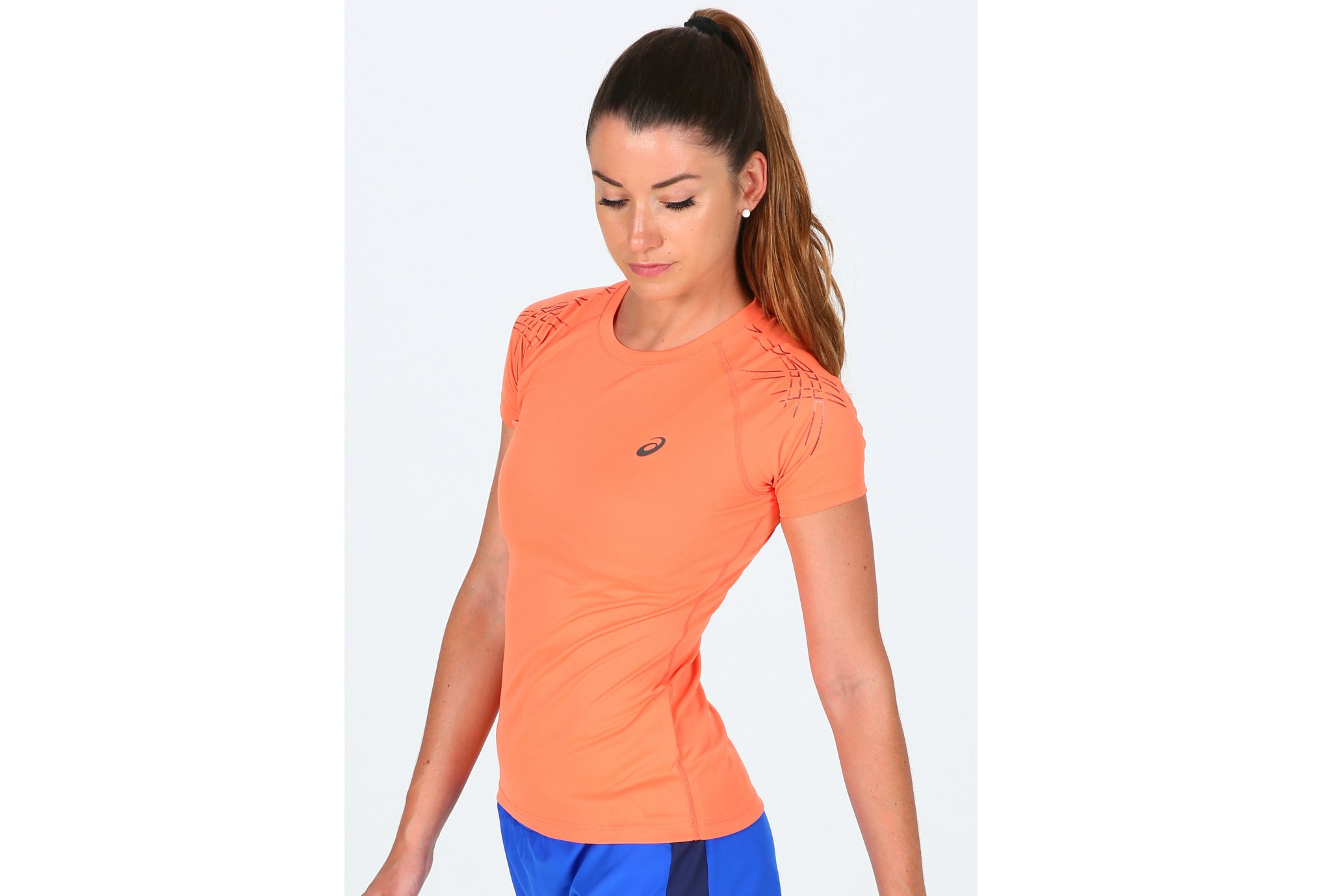 Asics Tee-shirt Stripe Top W vêtement running femme