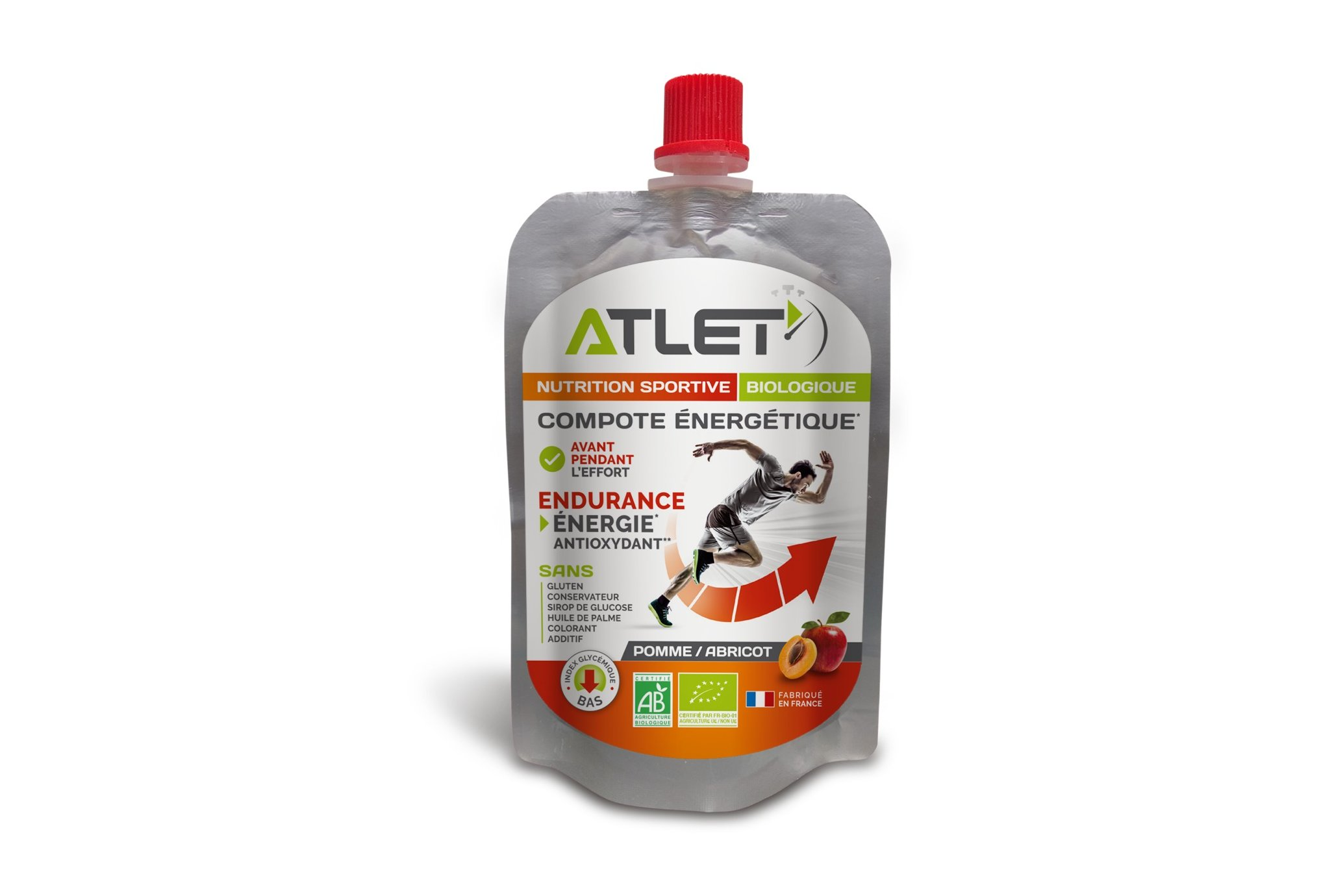 Atlet Compote Énergétique - Pomme/Abricot Diététique Gels