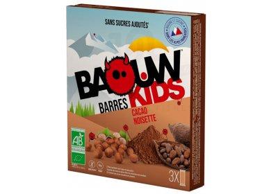 Baouw Étui 3 barres nutritionnelles bio - Cacao - Noisette - KIDS