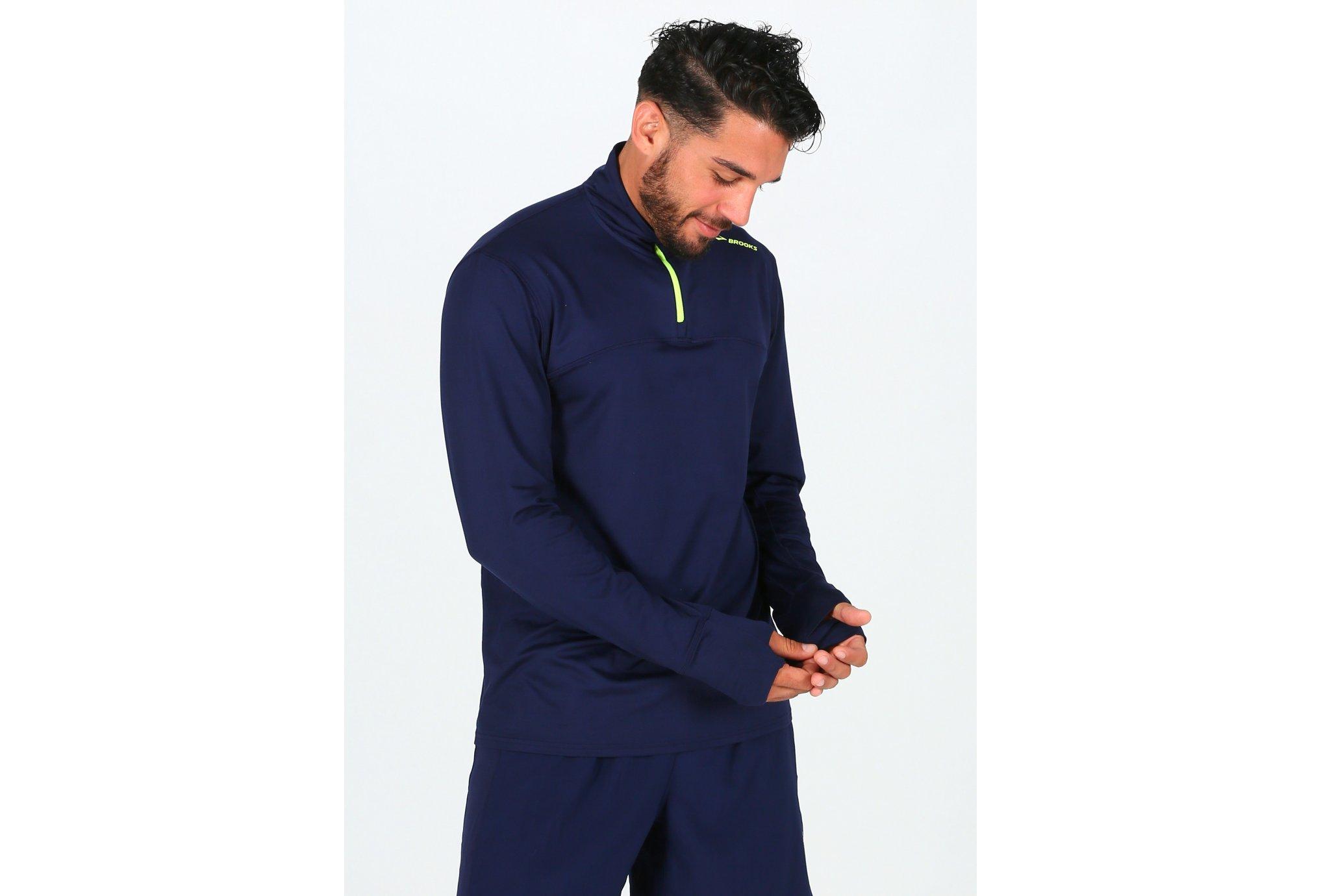 Brooks Dash 1/2 Zip M Diététique Vêtements homme