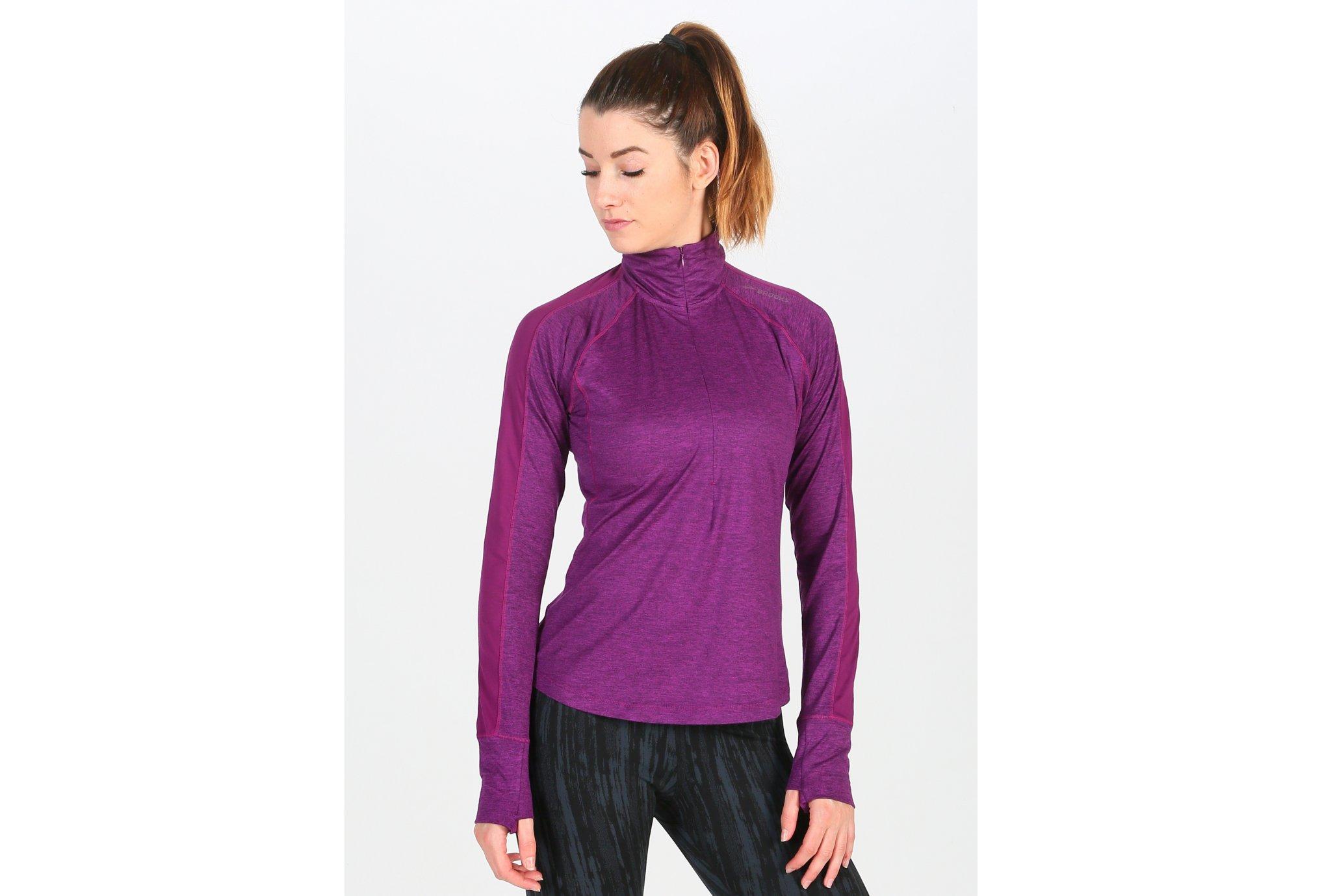 Brooks Dash 1/2 Zip W Diététique Vêtements femme