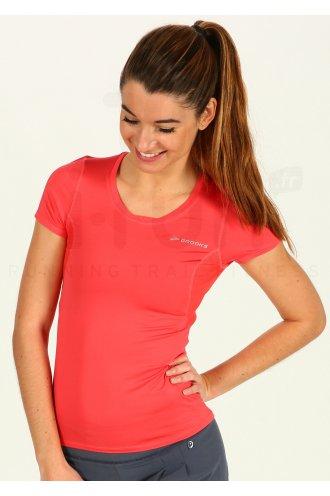 0734af413dd Brooks Tee-Shirt Equilibrium SS II W femme Orange pas cher