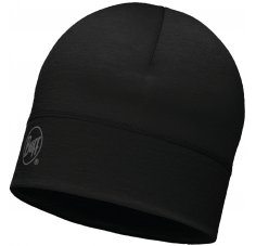 Buff Bonnet Merino Wool Solid Black