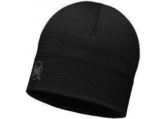 Buff Gorro Merino Wool Solid Black