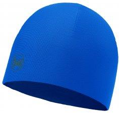 Buff Bonnet Microfibre Reversible Solid Blue