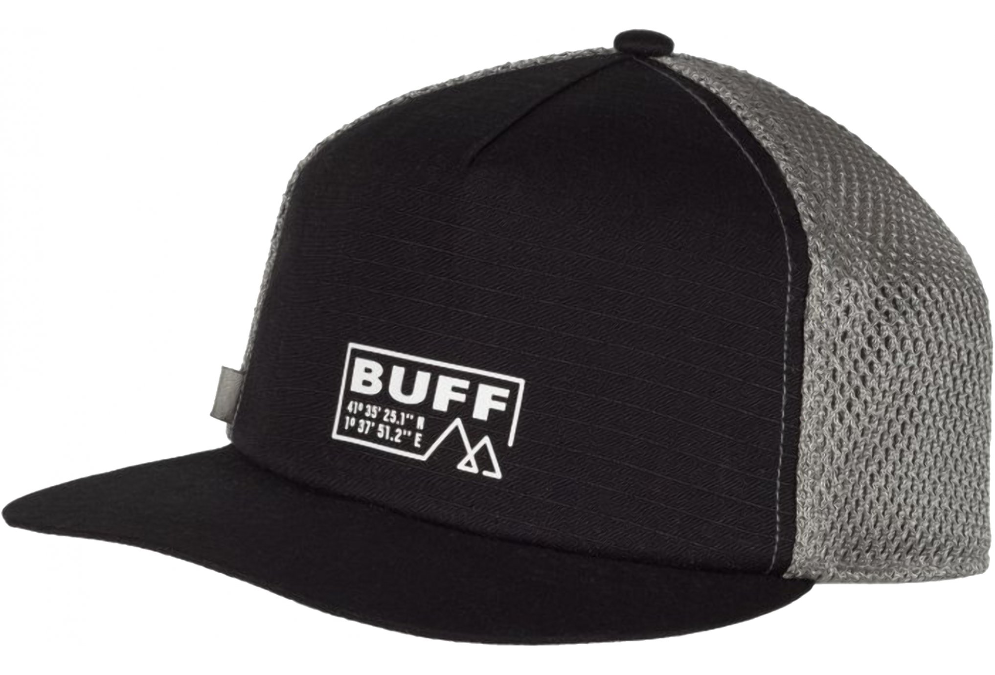 Buff Pack Trucker Cap Solid Black Diététique Accessoires