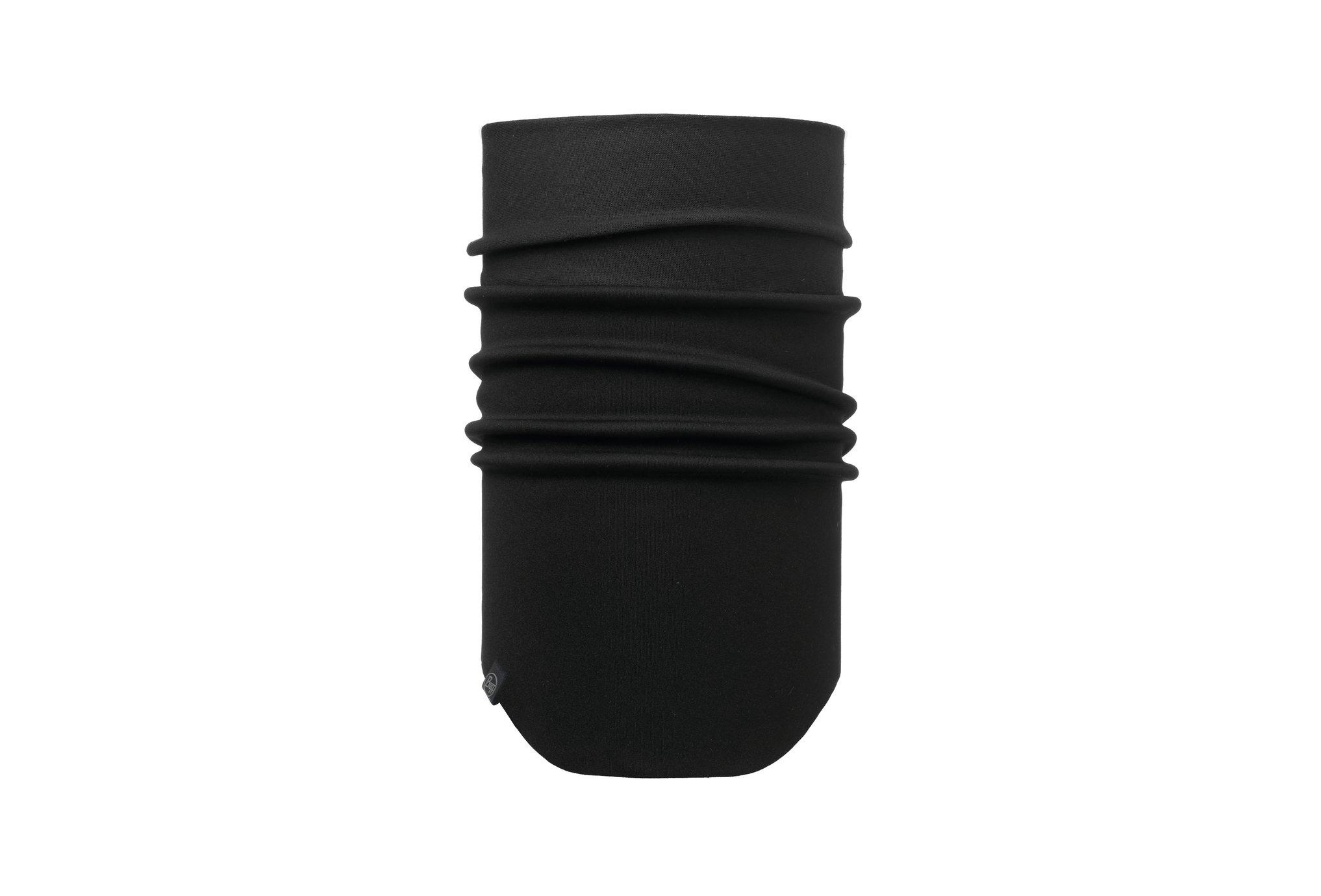 Buff Windproof Neckwarmer Solid Black Tours de cou