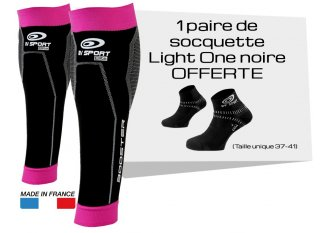 BV Sport Pack manguitos de gemelo Booster Elite Femina y calcetines Light One