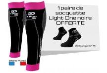 BV Sport Pack manguitos de gemelo Booster Elite Femina y calcetines Light One