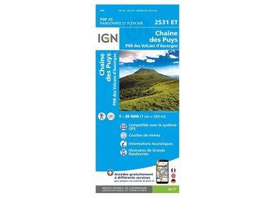 Carte IGN 2531ET Chaîne des Puys