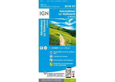Carte IGN 3618OT Gérardmer Le Hohneck