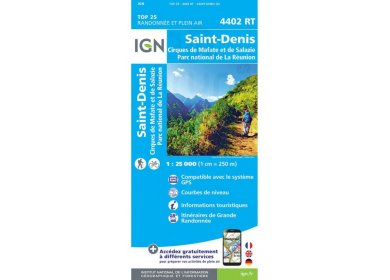 Carte IGN 4402RT Saint-Denis