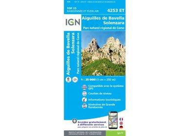 Carte IGN Aiguilles de Bavella Solenzara 4253ET