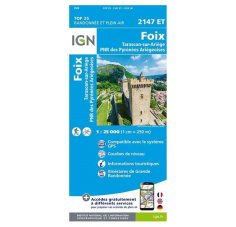 Carte IGN Foix 2147ET