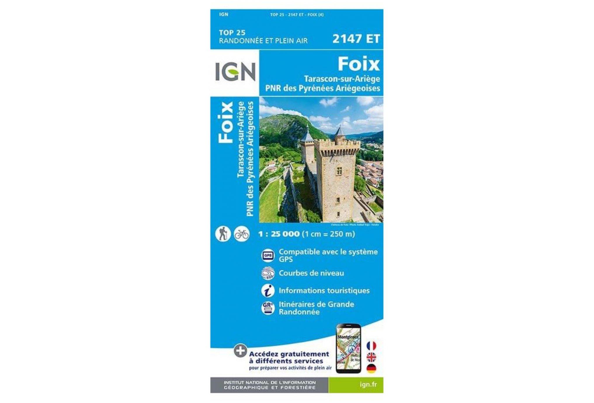 Carte IGN Foix 2147ET Cartes