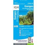 Carte IGN Ganges 2742ET
