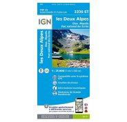 Carte IGN Les Deux Alpes 3336ET