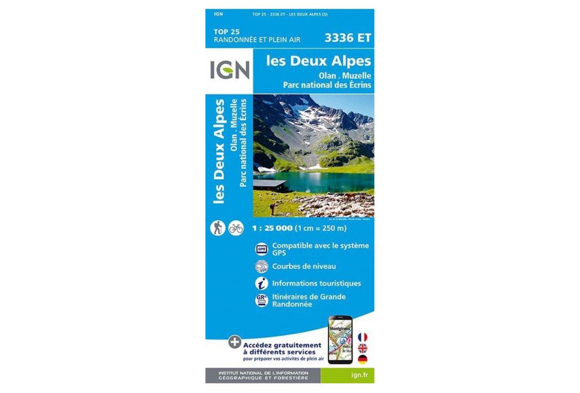 Carte IGN Les Deux Alpes 3336ET Cartes