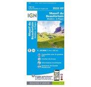 Carte IGN Massif du Beaufortain 3532OT